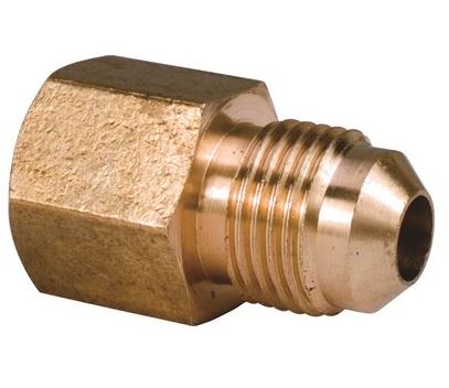 "BRASS ADAPTER 3/8"" FEMALE FLAR"