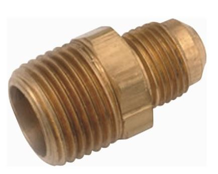 BRASS FLARE CONNECTOR 3/8 X 1/