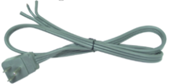 USD ANGLED POWER CORD 3 WIRE 1